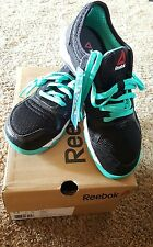 REEBOK ONE TRAINER 2.0 SHOES, SIZE 5.5 WOMEN, BLACK/TURQUOISE, M44392