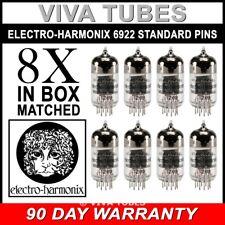 Brand New Gain Matched Octet (8) Electro-Harmonix 6922 (6DJ8) Vacuum Tubes