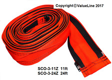 "3"" SAFETY ORANGE TIG WELDING TORCH ZIPPER CABLE COVER for 12.5ft Torch(3.8m)"