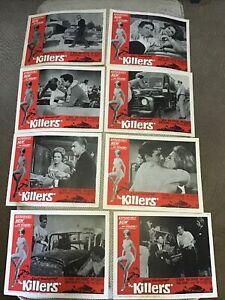 VINTAGE MOVIE ORIG LOBBY CARD SET 11x14 THE KILLERS ERNEST HEMINGWAY 1964 MARVIN