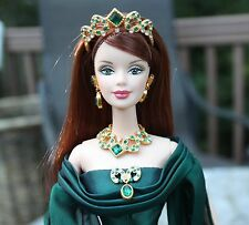 Empress of Emeralds Barbie 1999 Swavorski Crystals Limited Edition