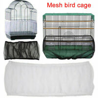 Pet Bird Cage Seed Catcher Tidy Guard Cover Shell Skirt Net Basket