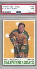 1970 OPC hockey card #191 Earl Ingarfield, California Seals graded PSA 7