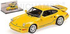 Porsche 911 Turbo S 3,3 964 Léger 1992 jaune vitesse jaune 1:43 Minichamps