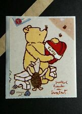 WINNIE THE POOH PIGLET SMALLEST FRIENDS ARE SWEETEST LOOK  VTG 2.5X3 STICKER