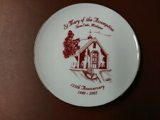 St Mary of the Assumption Three Oaks Michigan, 125th Anniversary Plate 1880-2005