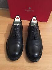 Grenson Wren Black Leather Oxford Shoe Uk 9.5, RRP£255
