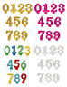 METALLIC NUMBER CANDLES - Birthday Party Cake All Ages Coloured Numeral Boy Girl