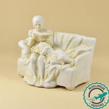 Ancienne Sculpture en Biscuit - Napoléon Ier et son Fils, le Roi de Rome