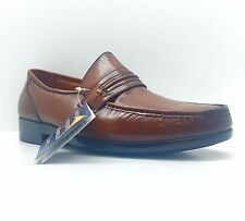 French Shriner Nelson Men's Comfortable Slip-on Casual Shoe Tan Leather 20134
