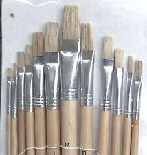 Artista Pittura Brush Set 12pc Punta Piatta 1 - 12 Arte Decorazione OLIO vernice acrilica