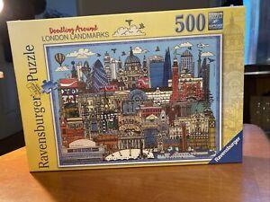 NEW LONDON LANDMARKS DOODLING AROUND JIGSAW 500 PIECE RAVENSBURGER JIGSAW PUZZLE