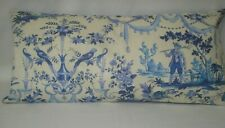 Blue White French Toile Lumbar Accent Decorative Pillow Cover 10x20