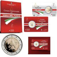 """2020 * 2 Euro ITALIA """"80º Corpo Nazionale dei Vigili del Fuoco"""" FDC Coincard"""