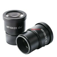 A PAIR OF WF 10X/20 EYEPIECE FOR NIKON OLYMPUS LEICA ZEISS STEREO MICROSCOPE