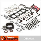 Fit 96-00 Honda 1.6 SOHC Head Gasket Set+Bolts Timing Belt Kit D16Y7 D16Y8 D16Y5