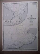 """1965 AMERICA CENTRALE Golfo dell'Honduras Mappa Nautica Mare grafico 28"""" x 20 1/2 """"B16"""