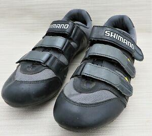 SHIMANO Clipless Cycling Bike Race Shoes SH-T 092 Black & Gray Men's 10.5