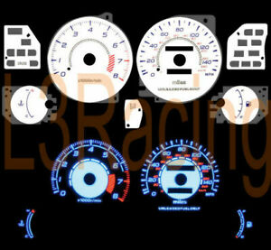 95-00 DODGE AVENGER 2.0L L4 REVERSE BLUE  EL GLOW WHITE GAUGES