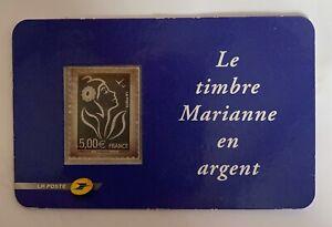 Timbre Marianne en argent
