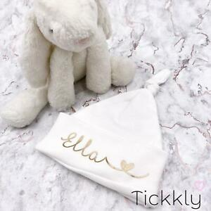 Personalised New Baby Knotted Hat