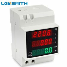 LEDSMITH D52-2047 DIN-rail Multi-function Digital Meter AC 80-300V 0-100A Act…