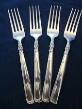 Set 4 Dinner Forks! Vintage Prestige silverplate: Gay Adventure pattern: Lovely!
