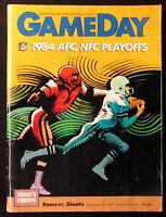 NY GIANTS vs LA RAMS 1984 NFL WildCard Play Off Game Football Program