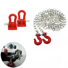 RC Car Metal Tow Hook Trailer Chain Kit  for 1/10 D90 Axial SCX10 Truck Toy #D