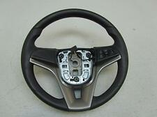 14 CHEVY SONIC Black vinyl Silver Trim Steering Wheel Driver Control