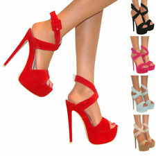 Very High (greater than 4.5\) Party Synthetic Leather Women's Heels""