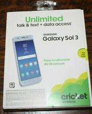"""NEW! Cricket Samsung Galaxy Sol 3 4G LTE 8MP 5"""" HD 16GB Prepaid Phone """"SEALED"""""""