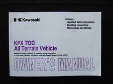 Kawasaki 2005 KFX700 KFX 700 KSV700  Original Owners Manual kaw120