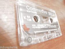 Cassetta COMMODORE 64 128 k software senza custodia trasparente forse GIOCHI