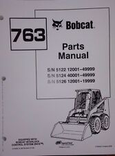 Bobcat 763 763F 763H Skid Steer Parts manual book 6724063 early machines