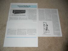 ADC Sound Shaper Three Equalizer Review, 3 pg, Full test, 1980