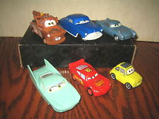 """6 RARE HTF DISNEY'S PIXAR CARS COLLECTABLE CAR'S LOT , """" SOLD AS IS """""""