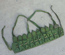 Vietnam Era Chinese Army Type 56 Semi Chest Rig Soviet SKS AMMO POUCH 10 cells