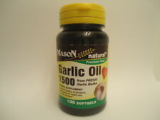 100 SOFTGELS GARLIC OIL 1500 mg SUPER CONCENTRATE HERBAL SUPPLEMENT