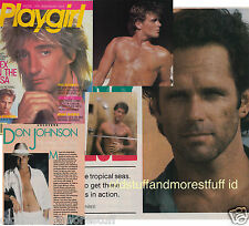 PLAYGIRL 6-86 JUNE 1986 ROD STEWART DON JOHNSON NUDE GREGORY HARRISON NUDE EXEC