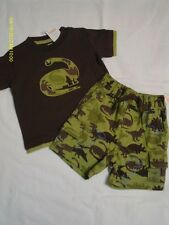 Gymboree Nwt Dino Mighty Brown S/S Brontosaurus Shirt and Short Set 6-12 months