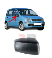 FOR FIAT PANDA 2003 - 2009 NEW WING MIRROR COVER CAP BLACK RIGHT O/S