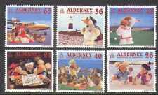 ALDERNEY 2000 librement/Phare/avion/Golf/transport/tourisme 6 V Set (n22207)