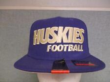 New Washington Huskies Football Mens Size OSFA Nike Snapback Flatbrim Hat $30