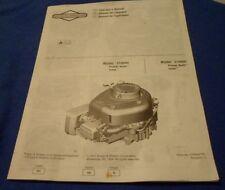 Briggs & Stratton 210000 310000 Power Built Intek Engines Operator's Manual
