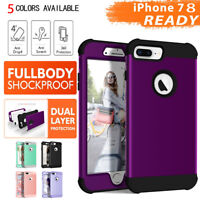 Fr iPhone XS XR 8 Plus Shockproof Heavy Duty Armor Hybrid Rubber Hard Case Cover