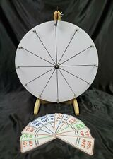 """19.5"""" White Customizable Prize Spin Wheel 12 Slots Handmade Party Trade Show"""