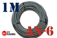 8mm STAINLESS STEEL BRAIDED 1000 PSI -6AN AN6 6-AN OIL FUEL LINE HOSE 1 M E85