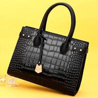 Women's PU Leather Crocodile HandbagS Sling Satchel Tote CrossBody Shoulder Bags