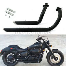 Exhaust Muffler Pipe Full System with Silencer Kit Fit Honda Shadow VT750 VT400